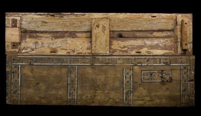 Sarcófago del sacerdote Cnumhotep. Madera de cedro. Dinastía XII (1991-1783 aC). Procedencia: necrópolis de Meir (Egipto Medio).