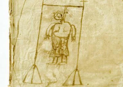 Portada d'un procés a una dona acusada de bruixa, © Arxiu Històric de Poblet.