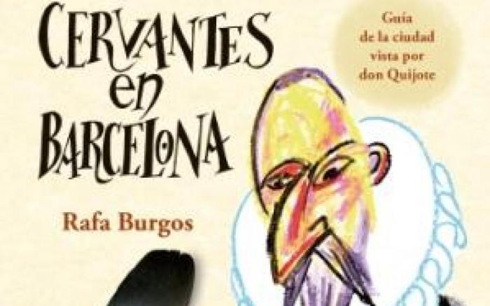 El Quijote visita el Museu Egipci con Cervantes en Barcelona